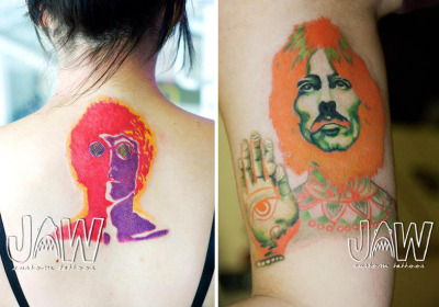 Psychedelic Beatles by Jessica A. White aka JAW Tattoos at Reclamare Gallery in Sacramento, Ca