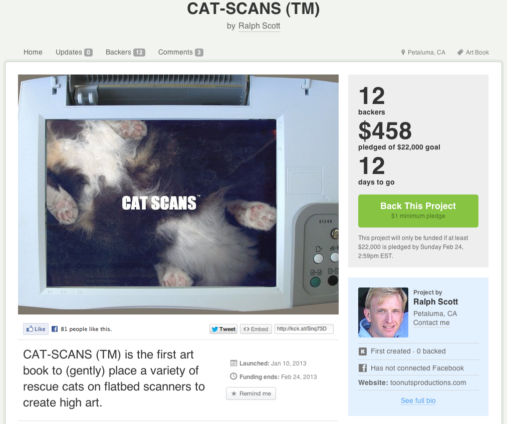 Uhhhh….$22,000 to take a picture of a cat that you could take by putting the cat on a glass table? Cat-Scans