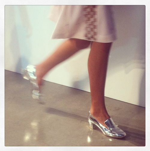 Laurence Dacade for Thakoon metallic shoes. A must-have! Photographed by Sheena Smith.