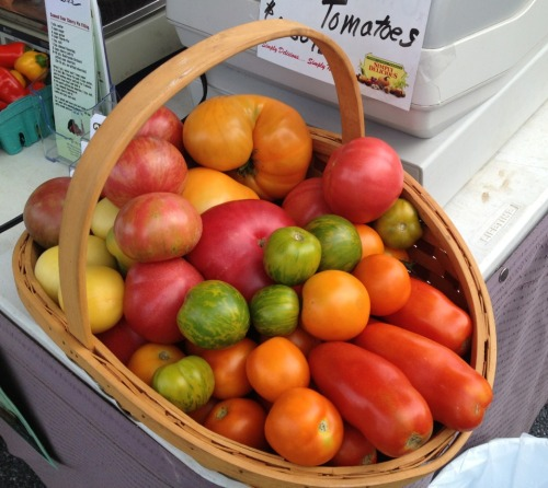 Gorgeous heirloom tomatoes at the Lititz Farmers' Market.