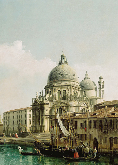 Bellotto, View of the Grand Canal and the Dogana (detail), ca. 1740 (x)
