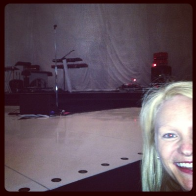 I don't think @dawnschmawn is close enough. At Maroon 5. Staples Center.