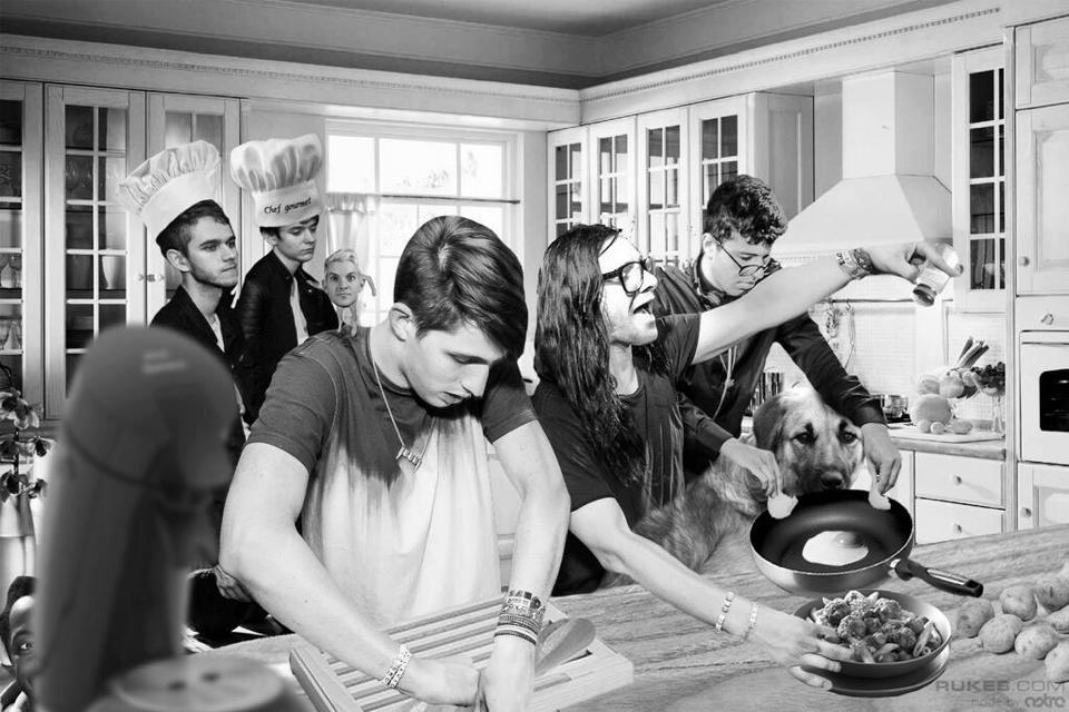 """Cooking with my friends,"" via @zedd"