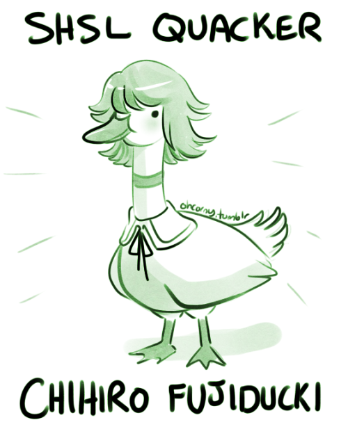 ohcorny:  au where chihiro is a duck that ishimaru and mondo take care of