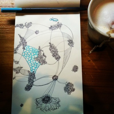 @JJBeanCoffee #London #Fogs are my new #fave. Delicious! Post-exam #sketching, #doodling, #thinkering #ink #art