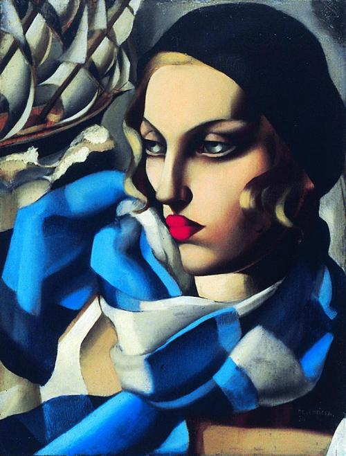Tamara de Lempicka - The Blue Scarf, 1930