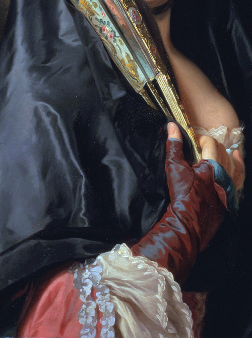 c0ssette:  The Lady with the Veil (detail,1768) Alexander Roslin.