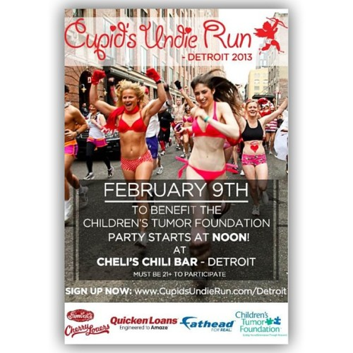 "Cupids Undies Run! #quickenLoans ""Who's Down?!!"" #shadesdet #valentinesDay"