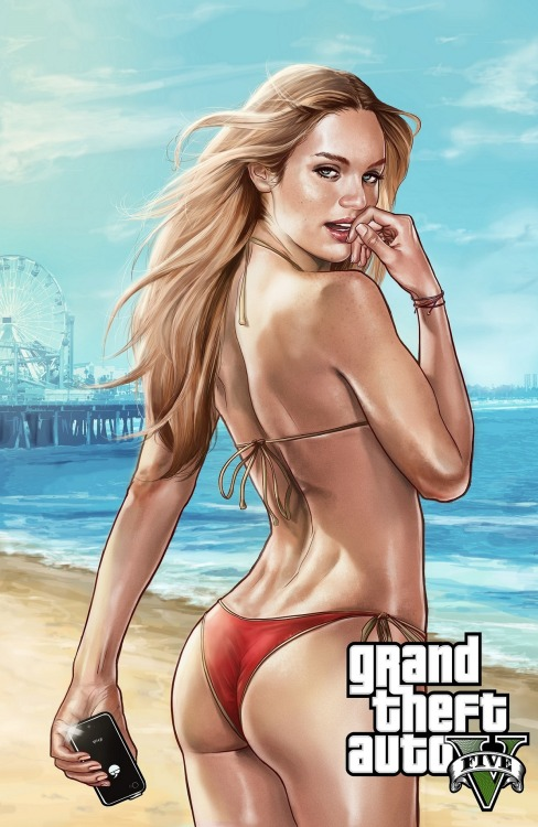 thecyberwolf:  GTA V - Poster  by Brandon Arseneault