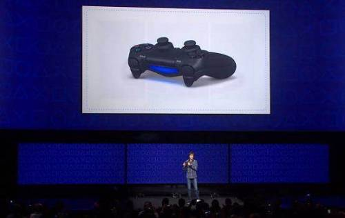 breakingnews:  Sony unveils PlayStation 4 game console The Verge: Sony announced its new console, the PlayStation 4, at an event in New York on Wednesday. The new system will utilize the DualShock 4 controller with a touchpad, sharing capability, and lightbar. Users will be able to suspend and restart play just by pressing the power button on the PlayStation 4, ending long boot times. Read more about the PlayStation 4 at Breaking News. Photo: Sony via NBCNews.com  Bad news, folks: The console won't support PS3 games out of the box, though the company says that support could come eventually.