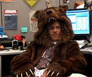 """Where can I get that bear coat?"" is a question that's come up more times than Waymond's not spoken.  The answer I wanted to give most is ""check Marc Summers' house"", but for liability reasons I've kept that kind of quiet. Well I no longer have to worry about sending crazies into the estate of Mr. Summers. The coolest costume closet addition you'll make this year can now be yours, because just in time for you to blow that Christmas money from Grandma, Fab.com is offering YOUR VERY OWN, OFFICIAL, BEAR COAT. You can buy it HERE. Where you wear it after that?  Is up to you.  But we'll recommend not doing so in a dense forrest area during hunting season.  'Cause dis coat looks dat real.  It's straight grizzly.   And now… so are you."