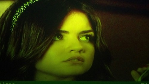 Lucy Hale with a nose bleed in her new show Pretty Little Bleeders.