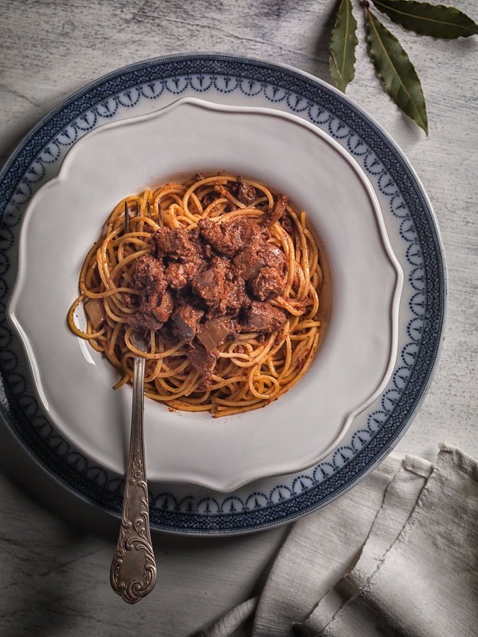 Maccheroncini from Campofilone with Chicken Livers Ragù