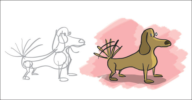 Sketch-a-day two:  my favorite animal.  This happens to be my dog, Charlie.  He's about the size of a shoe box.  Website (<— it's new…you should look at it.)