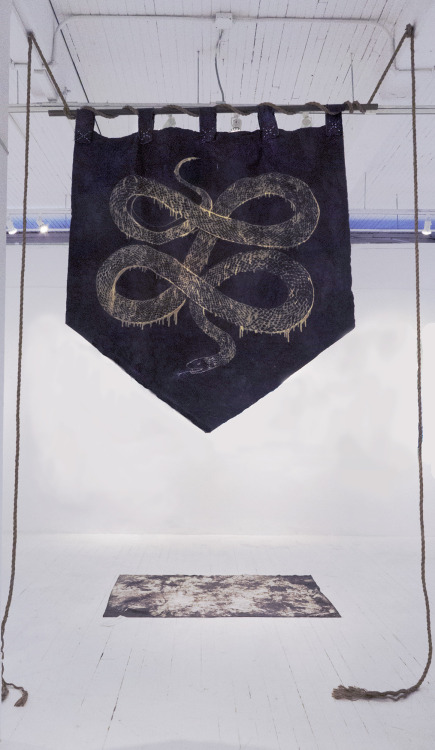 "thehueisblack:  ""serpent double infinity banner"" and ""product of violent abuse"" 2013  sick wurk, Matt"