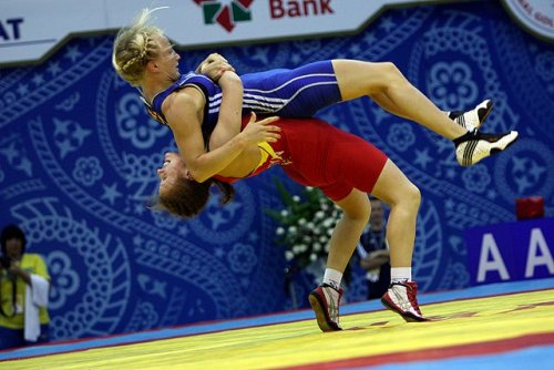 wrestlingisbest:  Girls don't suplex! Yeah, says who?