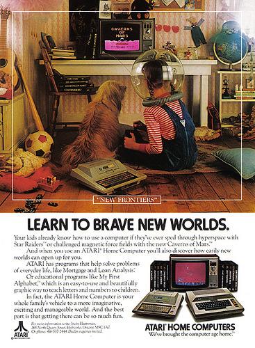raveradbury:  Vintage Ad #1,035: Learn to Brave New Worlds by jbcurio http://flic.kr/p/7Cj5Uu