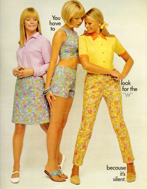 60sfashionandbeauty:  Lady Wrangler ad in Seventeen, April 1967. (♥)