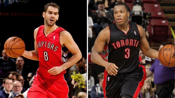 Doug Smith explains the peculiar statistical game the Raptors' starting point guards had against the Blazers the other night: More odd numbers  Yes, that was a very strange statistical game for the lads, wasn't it?  The two main point guards wind up with 23 assists, two turnovers and zero points in a combined 45 minutes, as odd a stat as I can remember. But it speaks to what's really turned things around offensively for this group. Sharing the ball does seem to work, the 34 assists they had as a team was a new season high, the previous was 33, set last Saturday in Orlando.  I don't know what's gotten into them – maybe it's as simple as everyone's just having fun playing – but it's something to see.   I've written about Calderon and Lowry elsewhere, but maybe they need each other to be successful?  Maybe neither one of them is an everyday, starting point guard at the level necessary to win in the NBA? Maybe they compliment each other perfectly, so they should be left in place, even as it seems like too much of the same thing? Maybe Andrea Bargnani should stay off the court? Maybe DeMar DeRozen is legit? Who knows? But I'll tell you one thing I do know: the Raptors aren't as bad as the season's first month may have suggested.