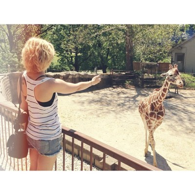 She was speaking giraffe? @chileeee #giraffe #zoo #animals #afterglow #afterlight #lensflare #mysticapp