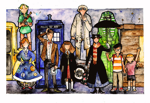 kettlehead-comics:  The Time Traveler's Society Do you recognize all of them?