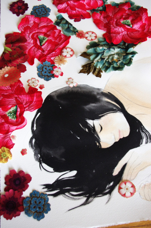 Tulips, tulips, tulips! …And a recent flower collage | stasia burrington