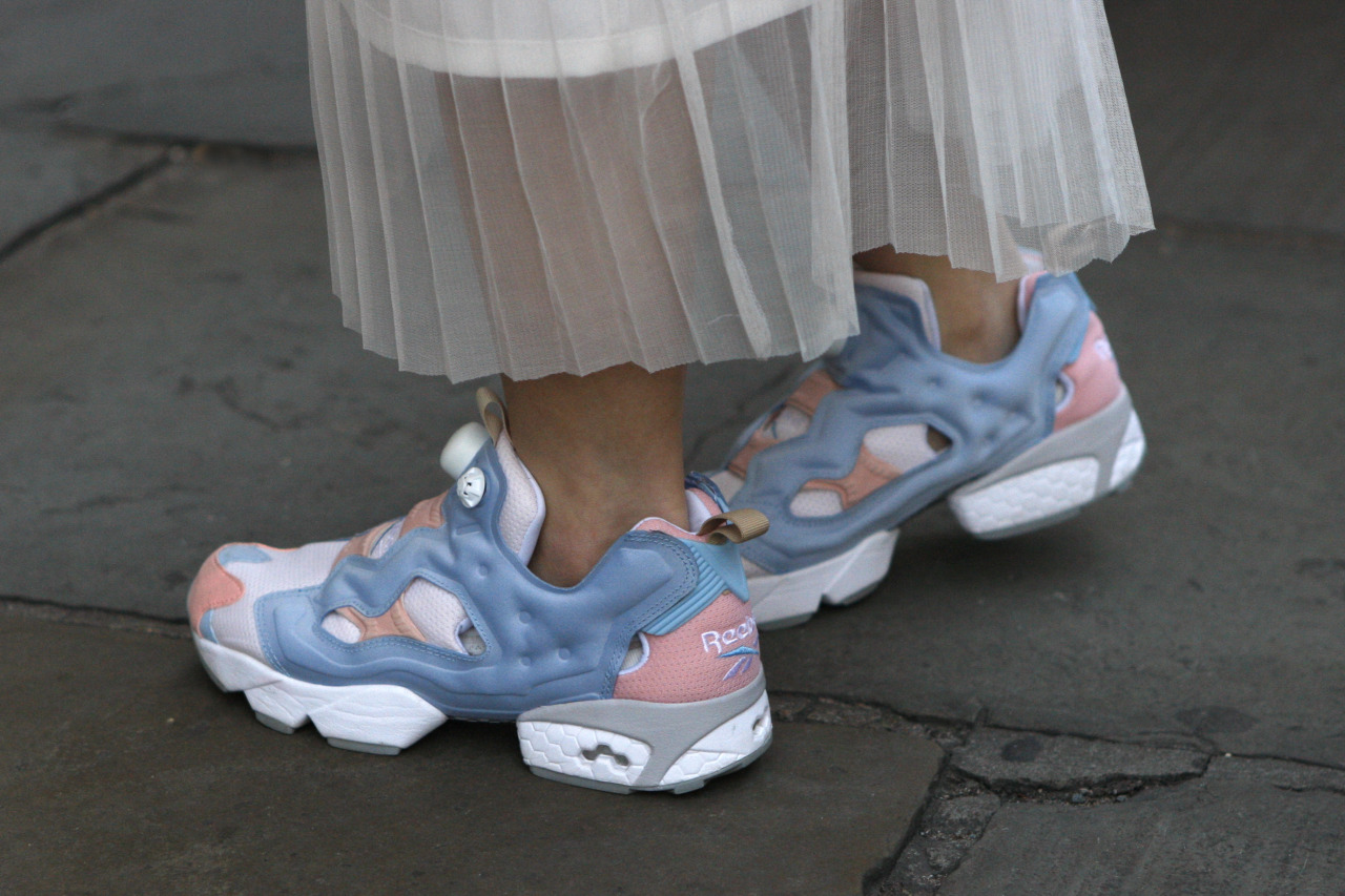 wgsn:  Heels be damned! This #LFW is all about the cozy trainers with an added dose of cool #streetstyle