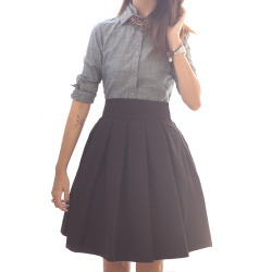 Fashion (10 Crosby Derek Lam shirt. Ann Mashburn skirt, via girlsack)