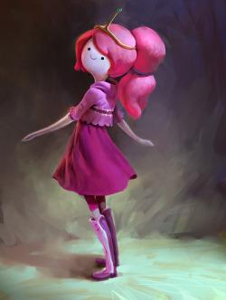 Adventure Time Princess Bubblegum Fanart ice king flame princess breakfast princess flame king