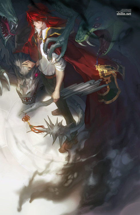 okolnir:  Carciphona - Summoner by *shilin - - - - - One of the newest pictures I finished for Anime North this weekend (: I hope it doesn't print as a botch of black HAHA  - - - - - My shop: http://shilin.storenvy.com Website: http://shilin.netDA: http://shilin.deviantart.comMy manga on Mangamagazine: http://www.mangamagazine.net/manga-and-comics/Carciphona/detail-page/477?lang=enMy manga on Tapastic: http://tapastic.com/series/260