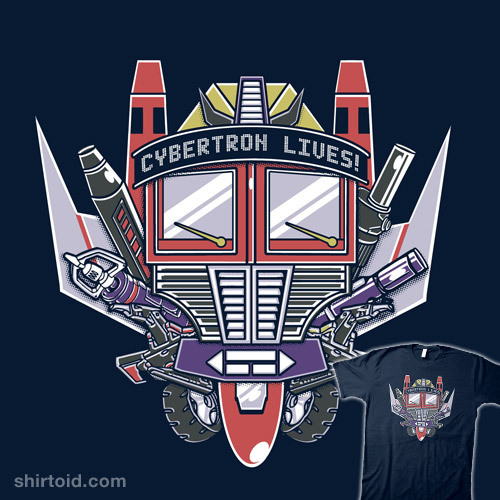 Cybertron Lives by Arinesart is $10 today only (3/24) at Shirt Punch