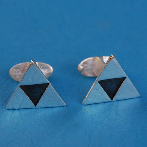 Just finished these - what do you think of them ? (via Sterling silver Zelda cufflinks by beaujangles on Etsy)