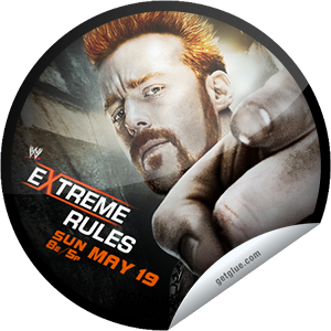 I just unlocked the WWE Extreme Rules sticker on GetGlue                      5131 others have also unlocked the WWE Extreme Rules sticker on GetGlue.com                  Congratulations! You've unlocked our WWE Extreme Rules Series sticker, featuring Sheamus.  Don't miss WWE Extreme Rules LIVE May 19 at 8/7 CT, exclusively on PPV. Share this one proudly. It's from our friends at WWE.