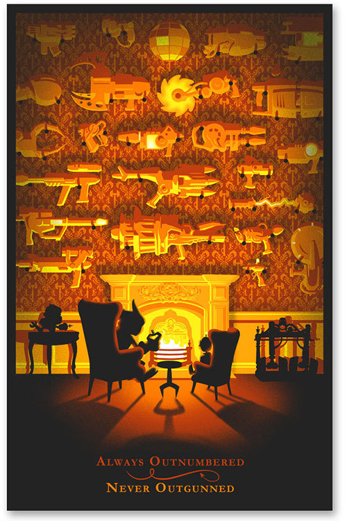 Ratchet & Clank 10th Anniversary £100.00 A limited edition screen print sanctioned organised by iam8bit and officially sanctioned by Insomniac Games and Playstation. Celebrating 10 years of Playstation's most enigmatic couple. Medium: 6 colour screen print Stock: 350gsm uncoated Dimensions: 19 x 29 in (488 x 737mm) Edition: 300, numbered Artist's Prints: 3, signed Artist: Website   Facebook   Tumblr