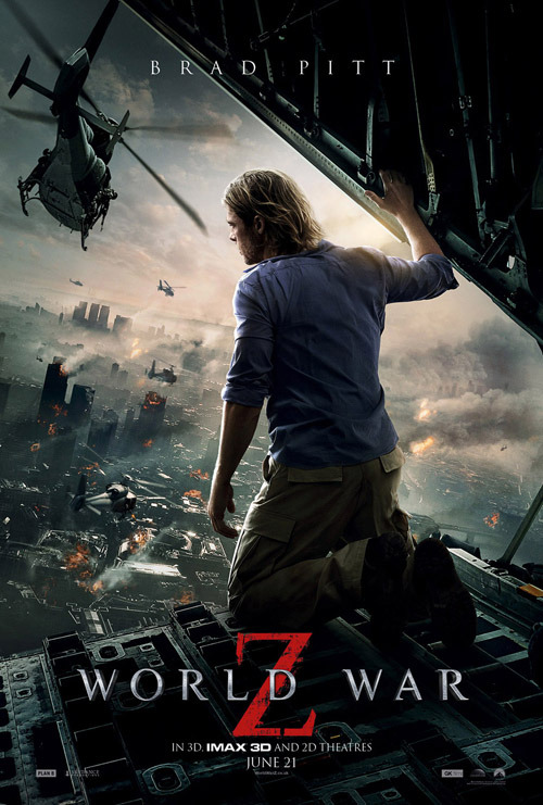New World War Z poster brings the carnage Some men want to watch the world burn - and some, like Brad Pitt, just don't have a choice…