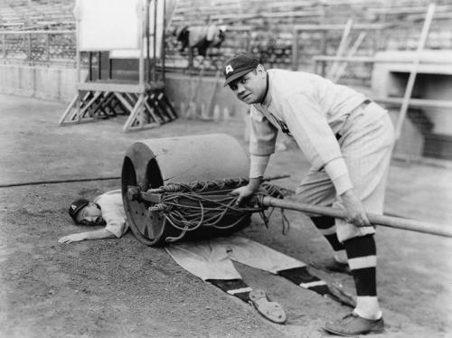 oldtimefamilybaseball:  bonusbaseball:   @si_vault:   Babe Ruth, always the jokester: pic.twitter.com/FXjilYp5       And yet, because the American justice system is broken, Ruth was able to parlay his wealth and popularity into never once being charged with a crime.