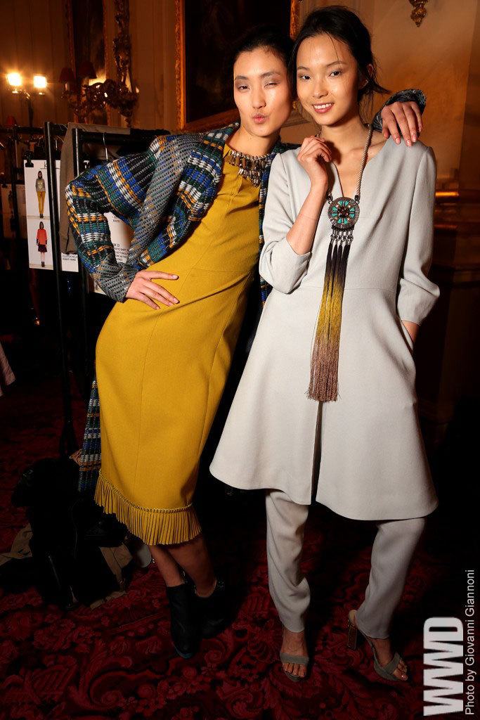 womensweardaily:   Backstage at Matthew Williamson