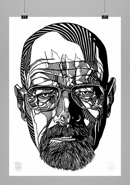 lukedixonart:  GIVEAWAY! 'WALTER WHITE' A2 SIGNED PRINT - JUST REBLOG FOR A CHANCE TO WIN. THEBEARHUG.COM - I'LL PICK THE WINNER MONDAY 21/1/13 (UK)