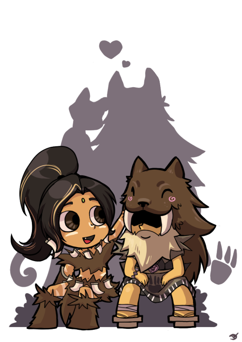 league-of-pairings:  Nidalee x Udyr by Artsed on dA