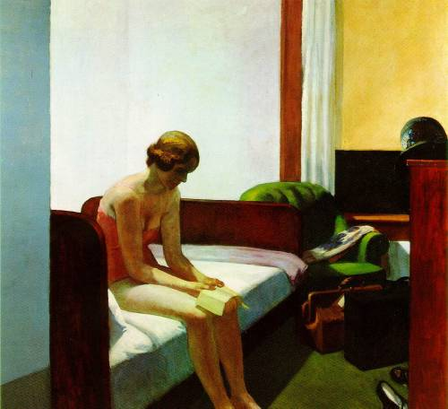 miss-rosen:  Artist: Edward Hopper Title: Hotel Room
