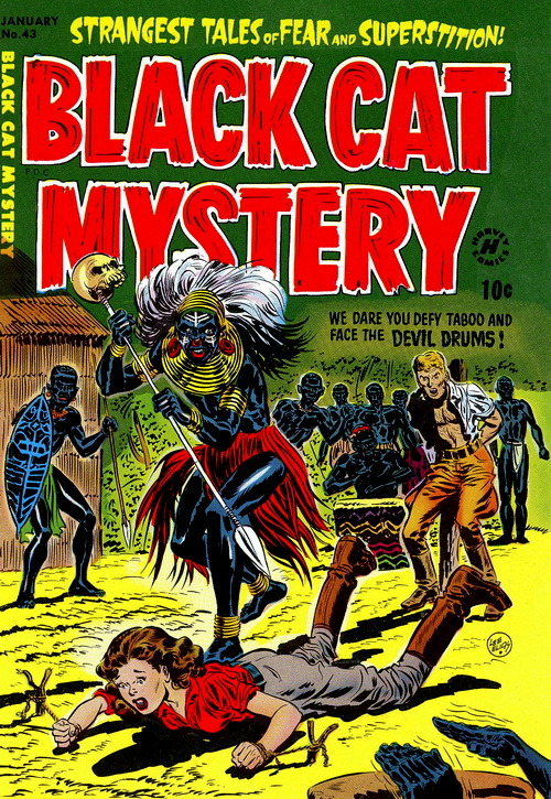 Black Cat Mystery (No.43, 1953)Cover Art by Lee Elias
