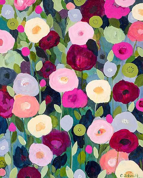 all-things-bright-and-beyootiful:  Night Garden ~ by Carrie Schmitt