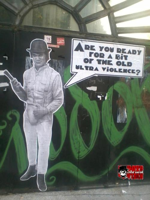 itsamodernworld:  clockwork orange street art