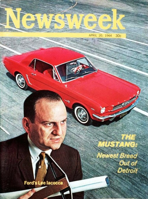 On This Date In 1964, Ford Unveils The Mustang  At first, it was known only as the T-5- a coded abstraction with no meaning outside the four windowless walls of a room in Dearborn, Mich.  Then it became the Turino, and perhaps 500 people knew what that meant.  This week, it is the Mustang; and Americans will have to be deaf, dumb, and blind to avoid the name.  Newsweek  April 20, 1964