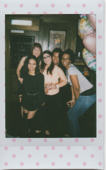 Instax Diaries #46  one of the better pictures of the night, i think! :D  part of olga's going away get-together at mcmullan's :)