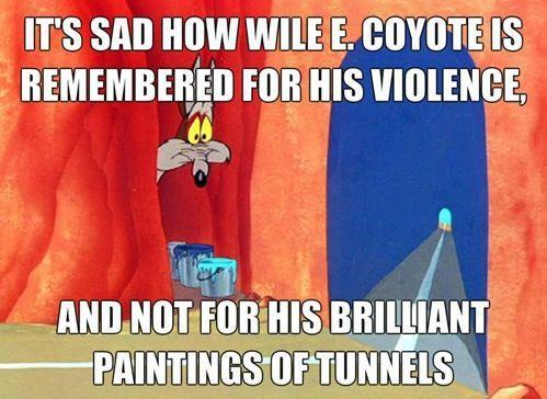 hyperallergic:  Reconsidering Wile E. Coyote's Artistic Legacy Sometimes life (and art) aren't fair, particularly in the case of classic Looney Tunes character…View Post  Ha ha!