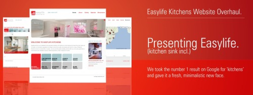 OPS has been working with the Easylife Kitchens website since 2005, and in that time, the site has risen to becomes the number one organic search result on google.co.za for the keyword 'kitchens'. It has also become a valued resource for customers (and even Easylife's competitors!) The website has at its core a massive gallery of kitchens, bathrooms, and bedrooms created by Easylife Kitchens. The gallery contains thousands of images, and the first job of the 2013 website overhaul was to give customers some better handles on the incredible gallery. OPS installed useful search modules that help customers in their searching of the gallery, as well as simpler categories to browse through. A work in progress is the 'tagging' of the entire gallery with keywords, which will help site visitors (and Google) in identifying what the images are about. This will allow visitors in time to search for all the 'red' kitchens, or all the kitchens with 'curves'. The website is built on the Drupal content management system, which allows not only easy updates, but excellent SEO tools to help keep Easylife at number 1. The website is also Responsive, so it displays perfectly on smartphones and tablets. Another vital aspect of the website is the showroom information. Contact details, Google Maps, and addresses are available to browse, and if you are visiting from a device with a GPS built-in, the website can even show you your closest Easylife showrooms.   Visit the all-new website at easylifekitchens.co.za