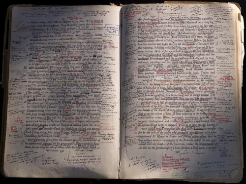 gorsejournal:  Susan Sontag's annotated Finnegans Wake [via @HamishH1931]