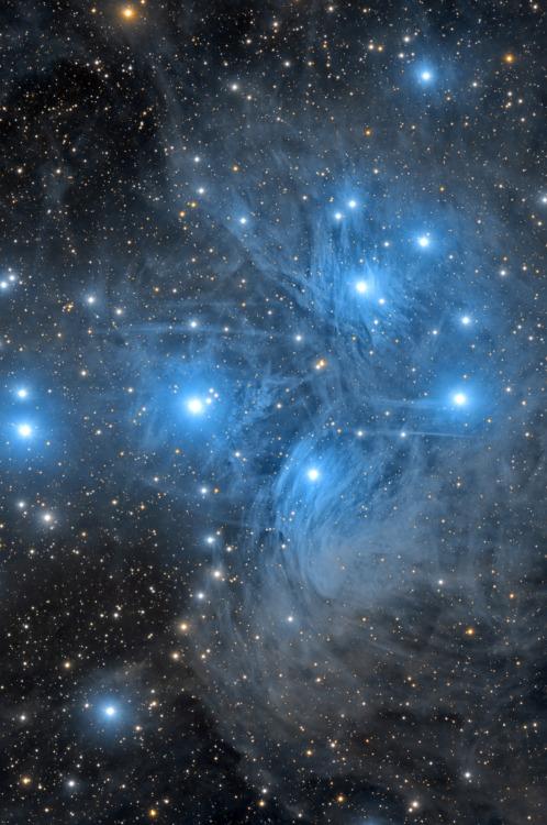 M45 Star Cluster Astronomny Pleiades Myth Greek