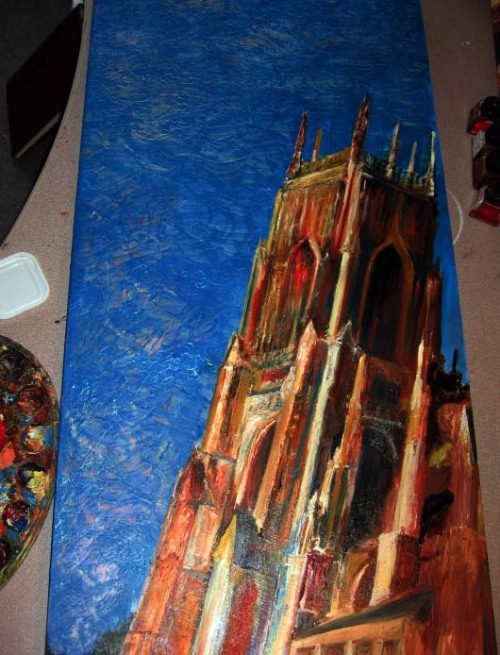 So very nearly finished the first board of my York Minster Triptych